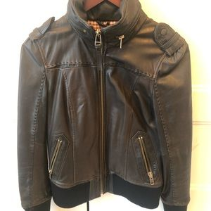 Mackage  black leather size small jacket